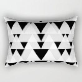 black triangles Rectangular Pillow
