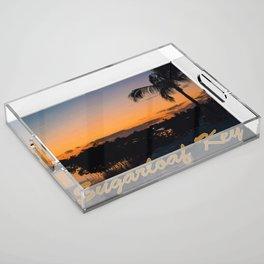 Sugarloaf Key Acrylic Tray