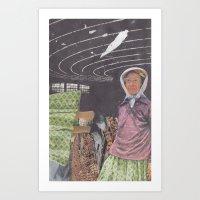 brain waves Art Prints featuring Brain Waves by Jessie Caron