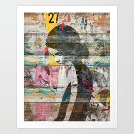 Shyness (Profile of Child) Art Print
