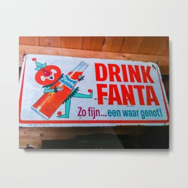 Drink Fanta Metal Print