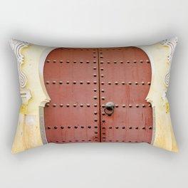 Golden Red Door in Fes, Morocco Rectangular Pillow