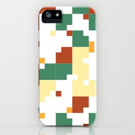 Waiting for Fall - Random Pixel Pattern in Green, Orange and Yellow iPhone Case