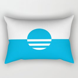 Milwaukee Wisconsin - Cyan - People's Flag of Milwaukee Rectangular Pillow