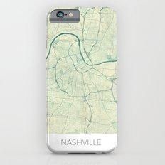 Nashville Map Blue Vintage Slim Case iPhone 6s