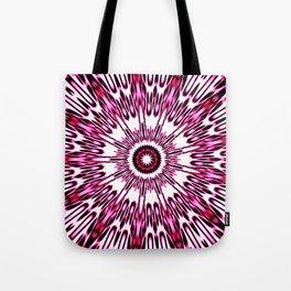 Pink White Black Explosion Tote Bag