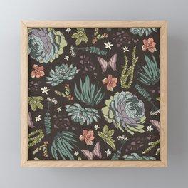 Cacti by Night Framed Mini Art Print