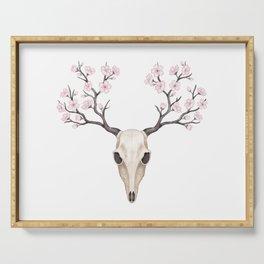 Blooming deer skull Serving Tray