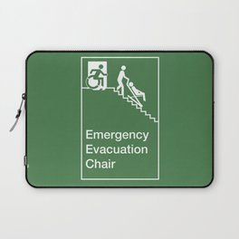 Accessible Means of Egress Icon, Emergency Evacuation Chair Sign Laptop Sleeve