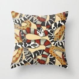 snakes sunlight Throw Pillow