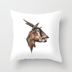 Salivating Goat Throw Pillow