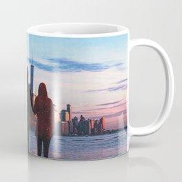 Couple Looking At New York City Skyline Coffee Mug