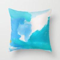 bali Throw Pillows featuring Bali by kristinesarleyart
