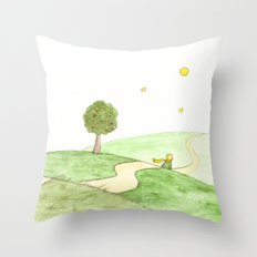 The little Prince and the Fox Throw Pillow