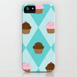 Argyle Cupcakes iPhone Case
