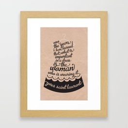 Little Black Dress Framed Art Print
