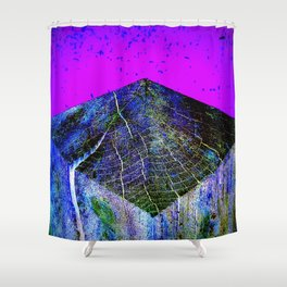 Flat Earth Apocalypse Shower Curtain