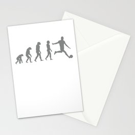 Football player evolution Stationery Cards