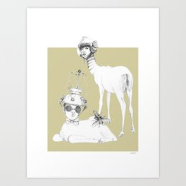 Weird & Wonderful: Space Deer Art Print