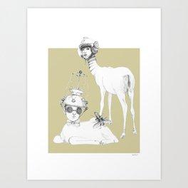 Weird & Wonderful: Space Deer Art Print