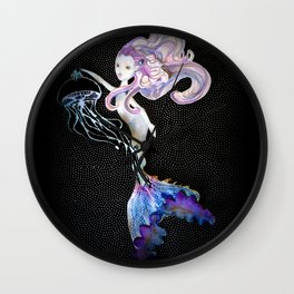 With the light of a jellyfish Wall Clock