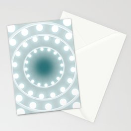 Dazzling circle lights Stationery Cards
