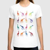 giraffes T-shirts featuring Giraffes by emegi