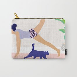 Girl Power Yoga pose Carry-All Pouch
