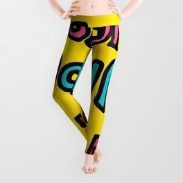 Color Your Life Writing Graffiti Positive Mind Art Leggings