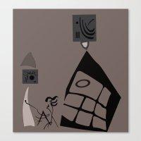 kandinsky Canvas Prints featuring Kandinsky...comics! by Marcia Borges