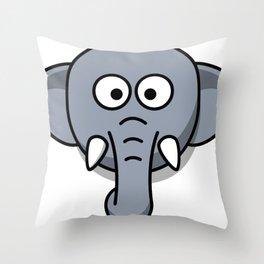 Cute Elephant Head Throw Pillow