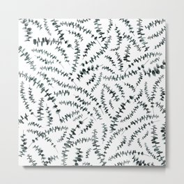 Eucalyptus branch /Agat/ Metal Print