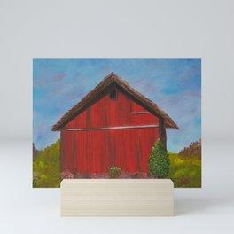 Shelter for the herd Mini Art Print