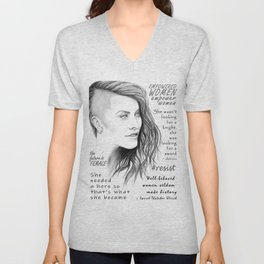 Feminist Quote Art Empowered Women Unisex V-Neck