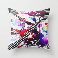 splash Throw Pillows featuring Splash by DuckyB