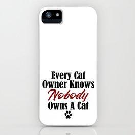 Funny Cat Evil Kitty Master Meow Kitten Pet Whisperer iPhone Case