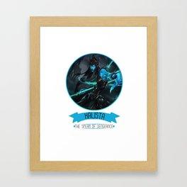 League Of Legends - Kalista Framed Art Print