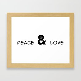 Peace and Love Motivational Pop-Art Framed Art Print
