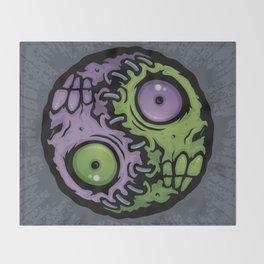 Zombie Yin-Yang Throw Blanket
