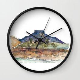 Purple Mountian, New Mexico Wall Clock