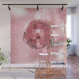 Pink Christmas Ball Wall Mural