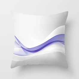 Purple Wave Abstract Throw Pillow