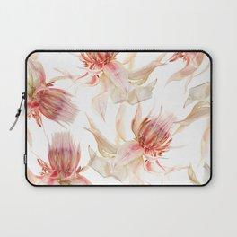 Vintage Blushing Bride Protea Laptop Sleeve