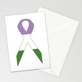 Genderqueer Ribbon Stationery Cards