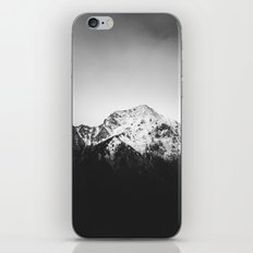 Black and white snowy mountain iPhone & iPod Skin