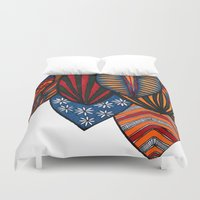 surf Duvet Covers featuring Surf by kartalpaf