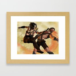 Swipe of the Sword Framed Art Print