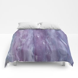 Touching Purple Blue Watercolor Abstract #1 #painting #decor #art #society6 Comforters