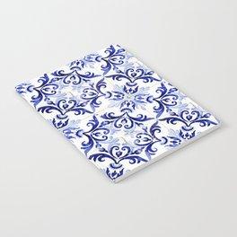 blue tile pattern VI - Azulejos, Portuguese tiles Notebook