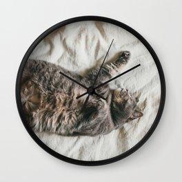 Fat lazy cat Wall Clock